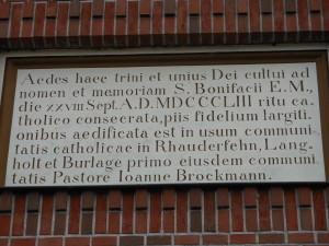 St Bonifatius lat