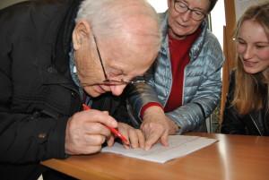 Unterschriftenliste Weinberg